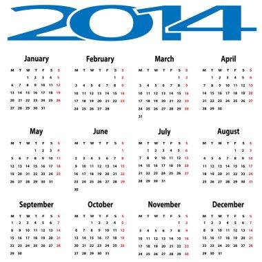 calendar 2014.