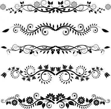Floral borders and ornaments