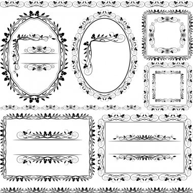 Frames, borders and ornaments floral
