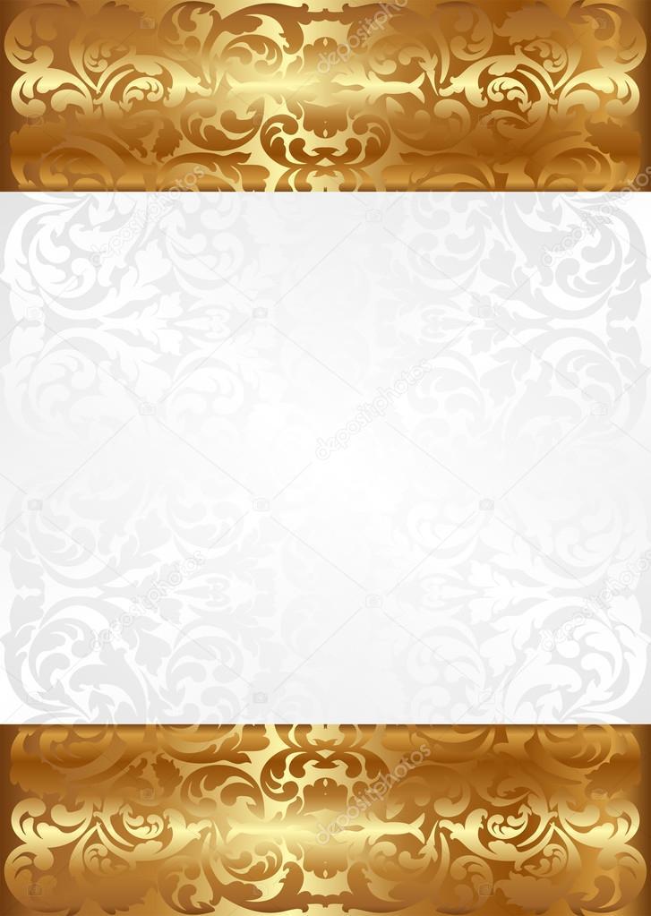Sfondo Bianco E Oro Vettoriali Stock Mtmmarek 23967439