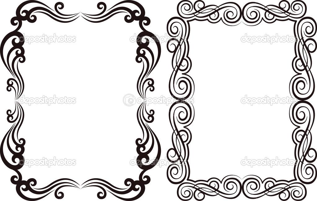 Marcos ornamentales — Vector de stock © mtmmarek #24501813