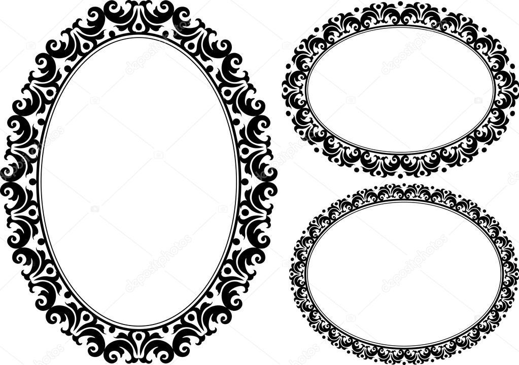 marcos ovalados — Archivo Imágenes Vectoriales © mtmmarek #25877171