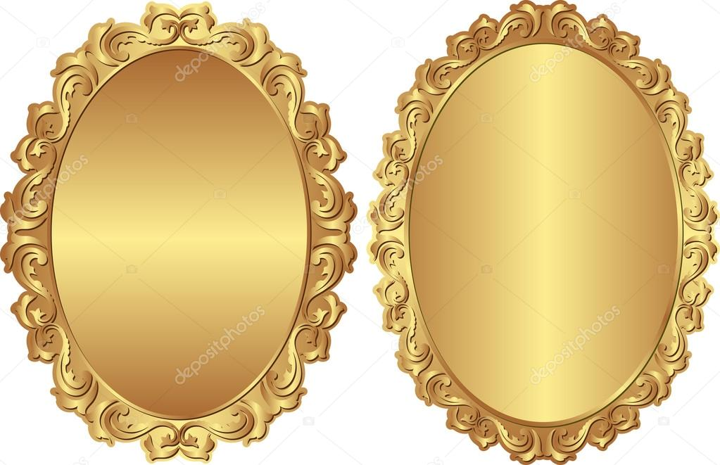Vintage Golden Frames Vector By Mtmmarek