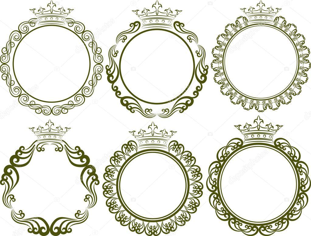 royal frames — Stock Vector © mtmmarek #36119739