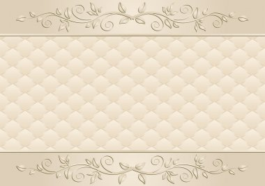 Beige background with floral ornaments stock vector