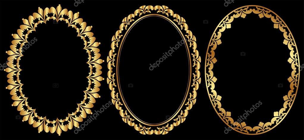marcos ovalados — Vector de stock © mtmmarek #40981189