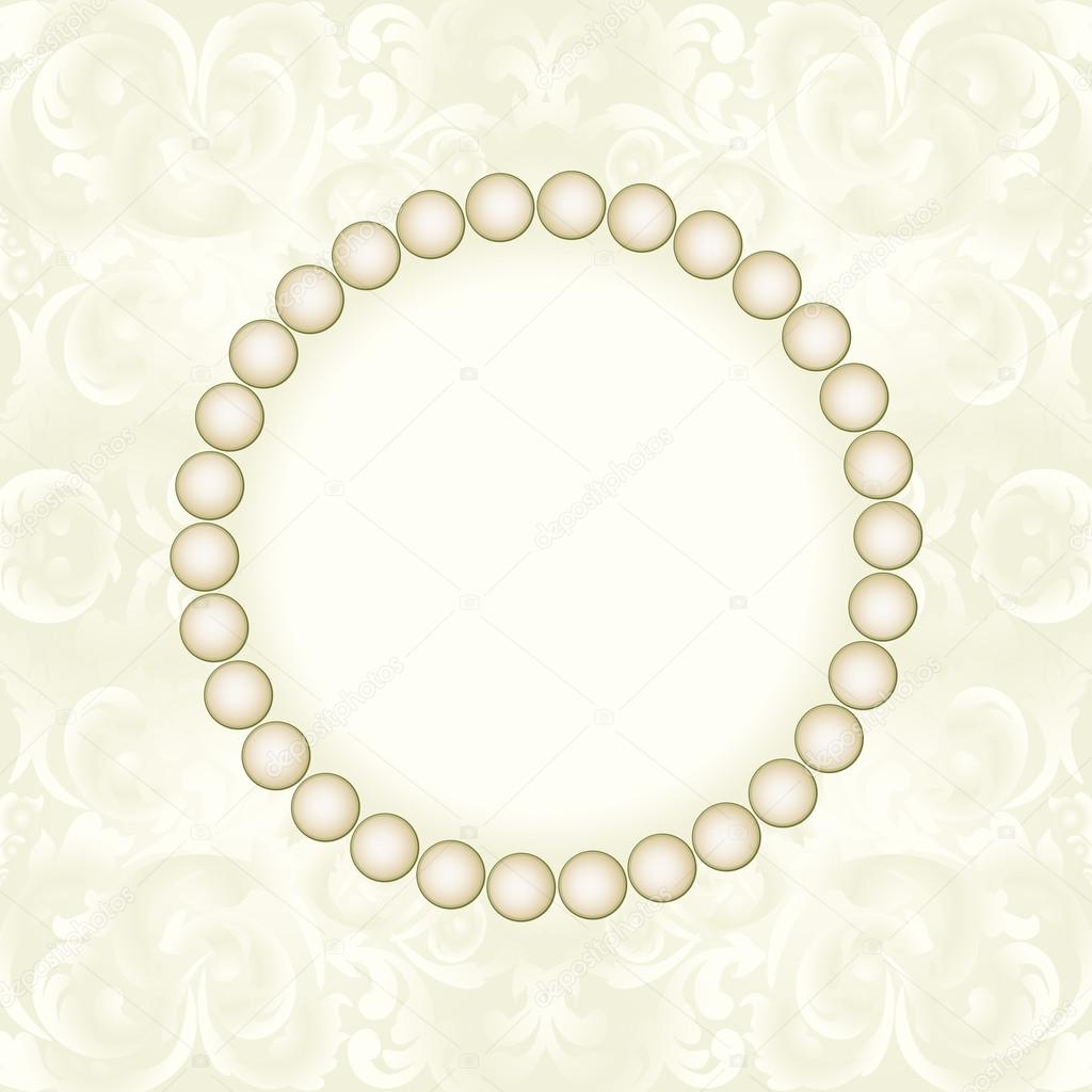 pearl frame — Stock Vector © mtmmarek #42401993