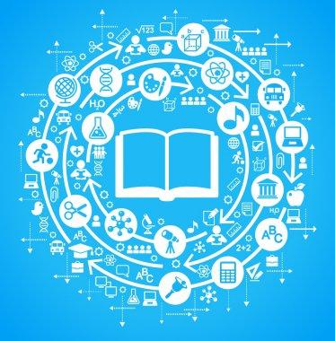 Background education icons