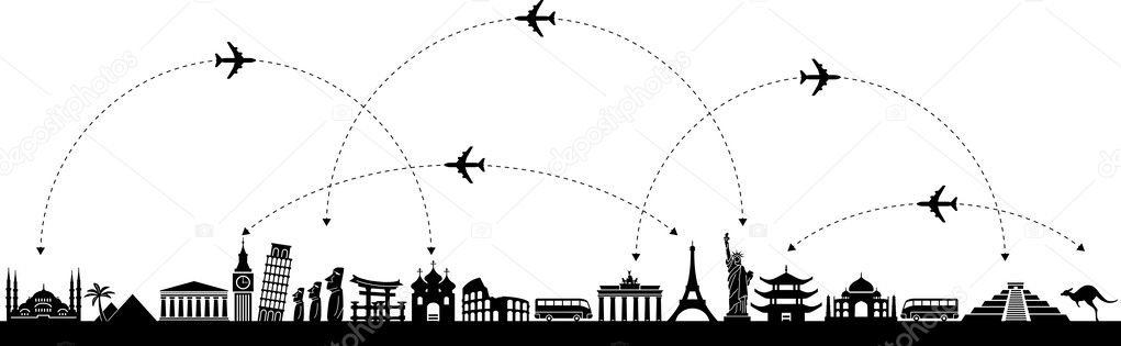 Vector Background Travel