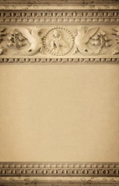 The elements of decoration, background of old stucco molding
