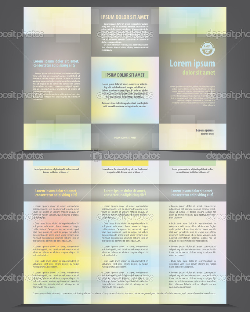 threefold business brochure stock vector irinaww 39557621