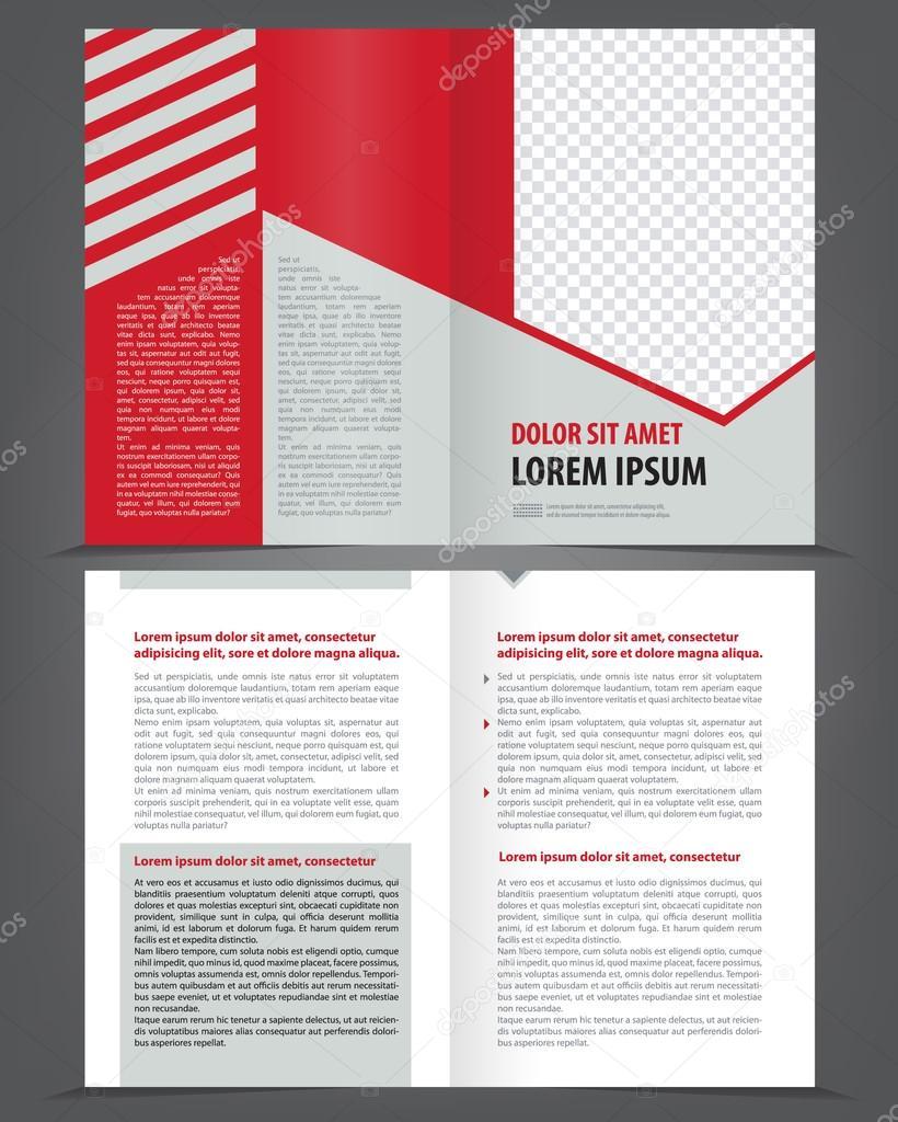 Two-fold beauty red brochure print template — Stock Vector © IrinaWW ...