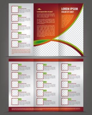 Template design, menu