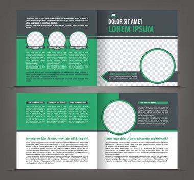 Empty brochure print template design