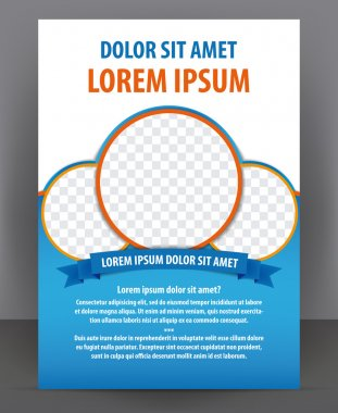 Magazine, flyer, brochure and cover layout design template, vector Illustration stock vector