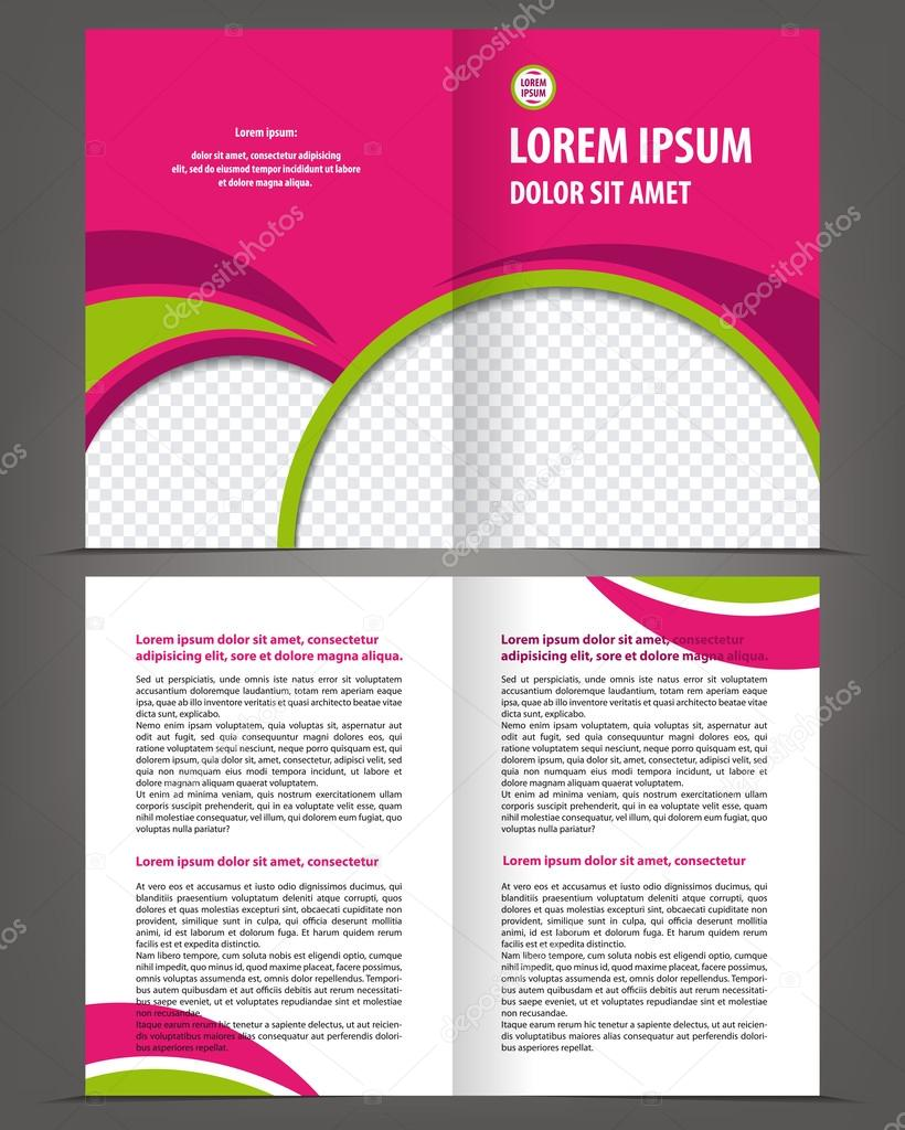 Empty Bifold Brochure Template Design Stock Vector IrinaWW - Double fold brochure template