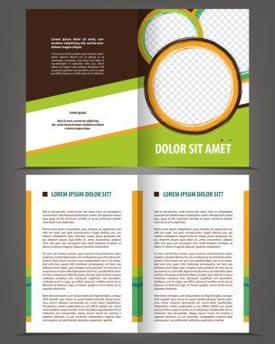 empty bi-fold brochure print template