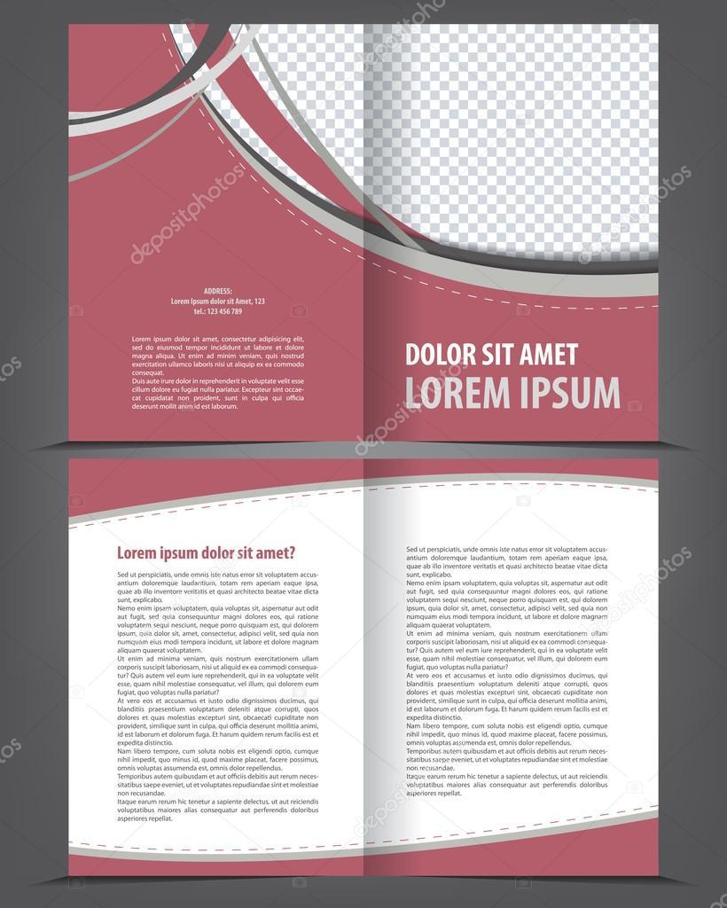 leere Bi-Fold Broschüre Druckvorlage design — Stockvektor #42995123