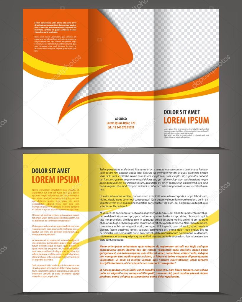 Broschüre Druckvorlage design — Stockvektor © IrinaWW #43637643