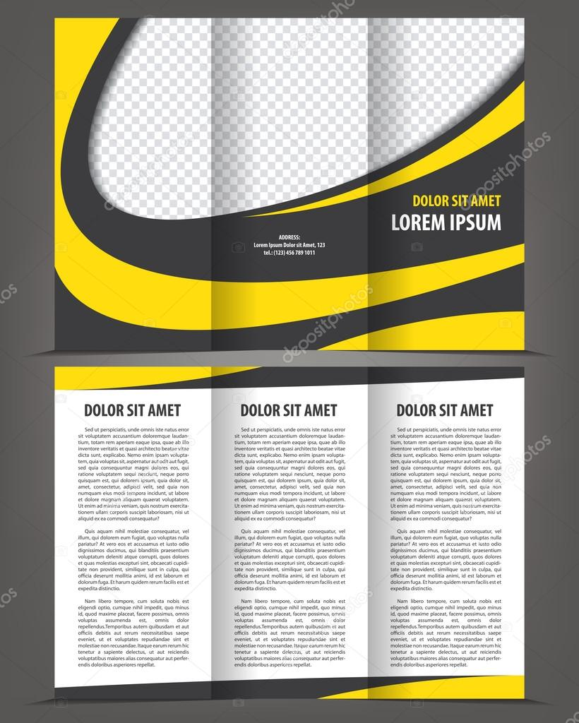 Trifold Vektor Broschüre Druckvorlage design — Stockvektor ...