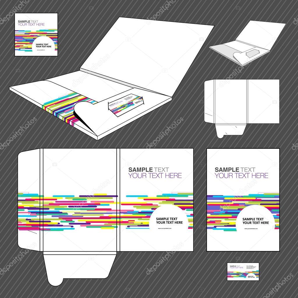plantilla de diseño de carpeta — Archivo Imágenes Vectoriales © Loca ...