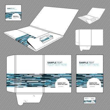 Folder design template.
