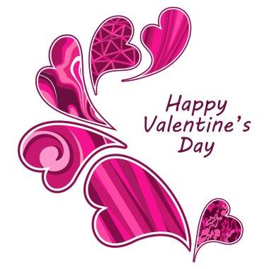 Valentine day hearts. clip art vector