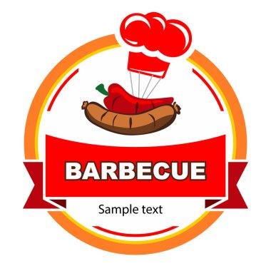 Barbecue label design.