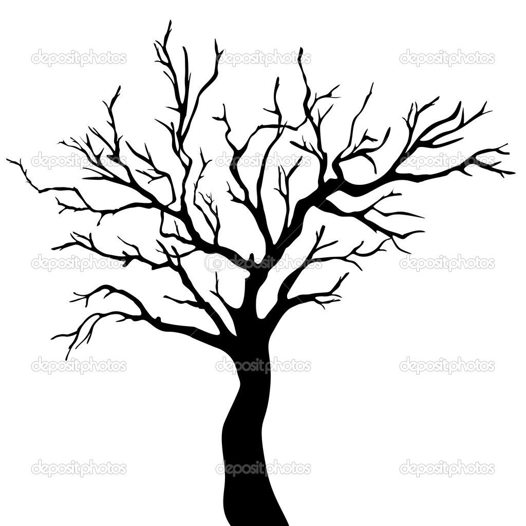 tree silhouette stock vector loca 43437247 rh depositphotos com tree silhouette vector file palm tree silhouette vector