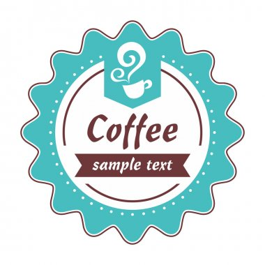 Product label or cafe logo, suitable for desserts