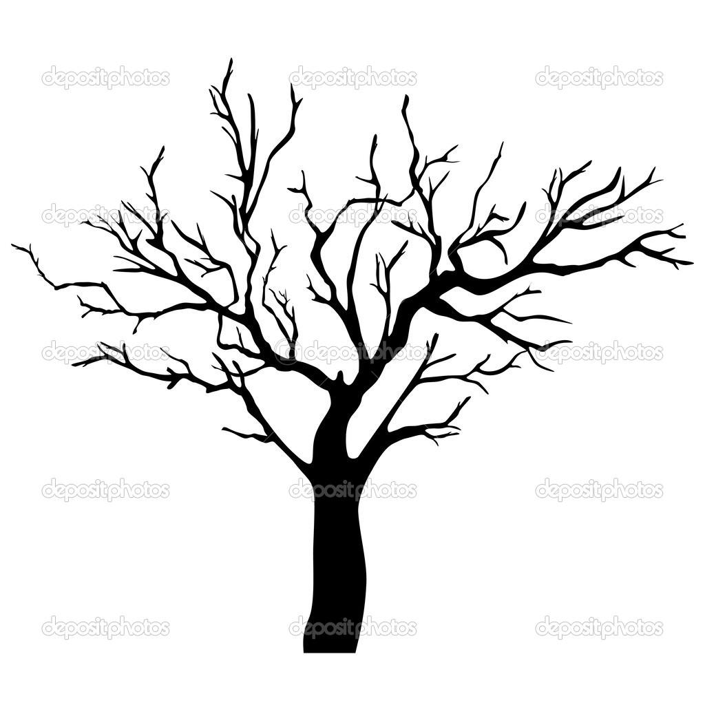 tree silhouette stock vector loca 44492935 rh depositphotos com tree silhouette vector download tree silhouette vector art