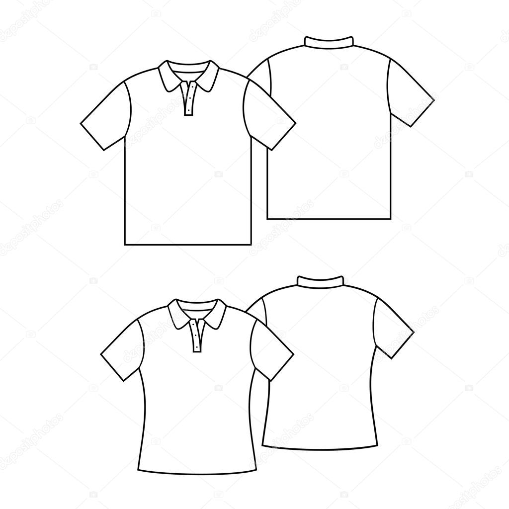 depositphotos_45227563 stock illustration blank t shirt template blank t shirt template stock vector � loca 45227563 on polo shirt design template
