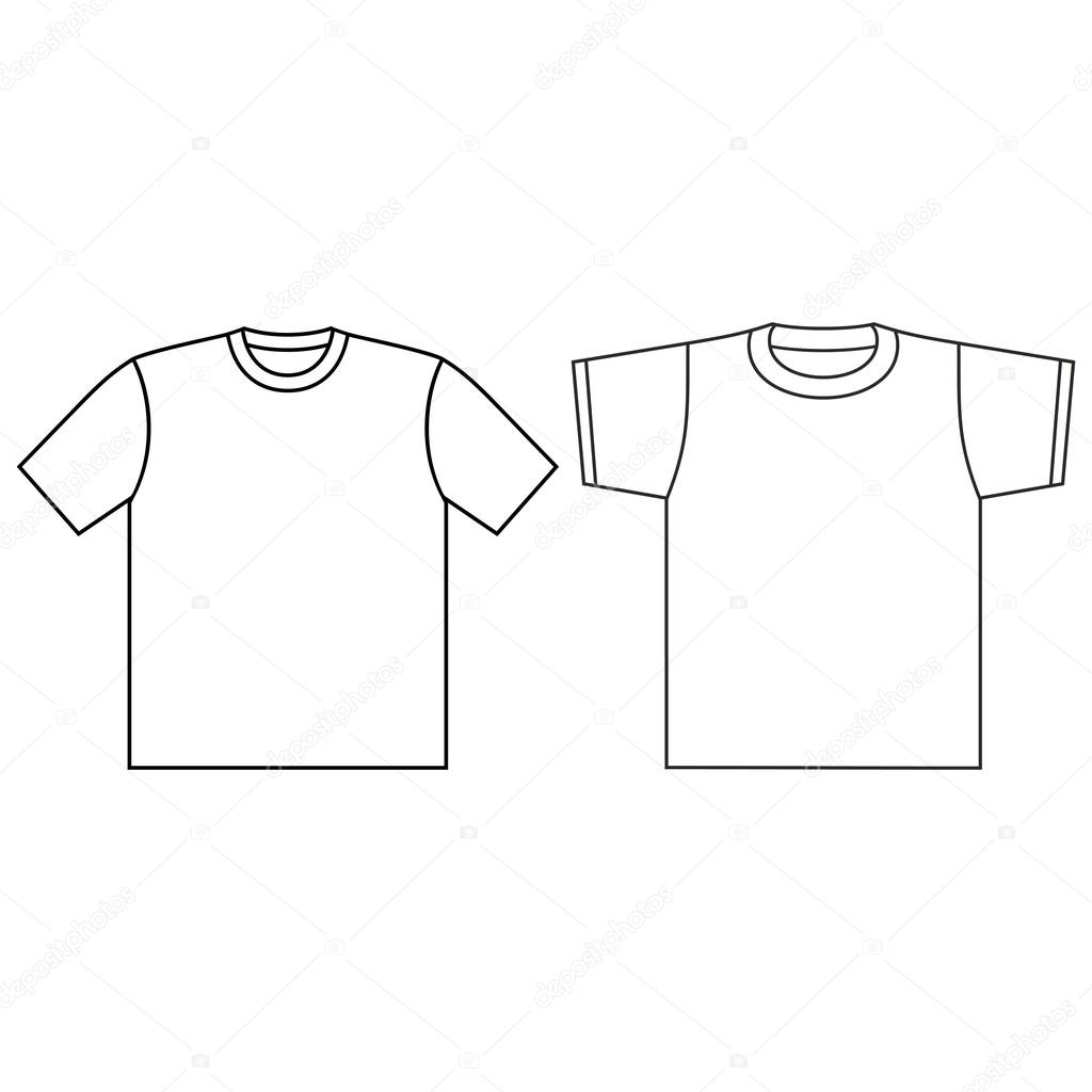 leere T-shirt-Vorlage — Stockvektor © Loca #45227609