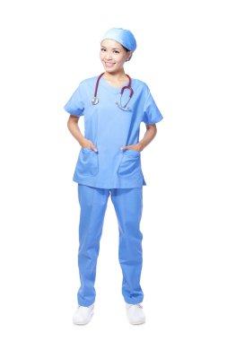 Medical surgeon doctor woman smile