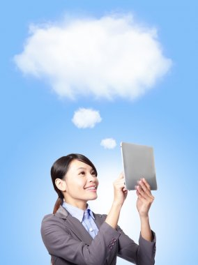 Cloud computing concept in business