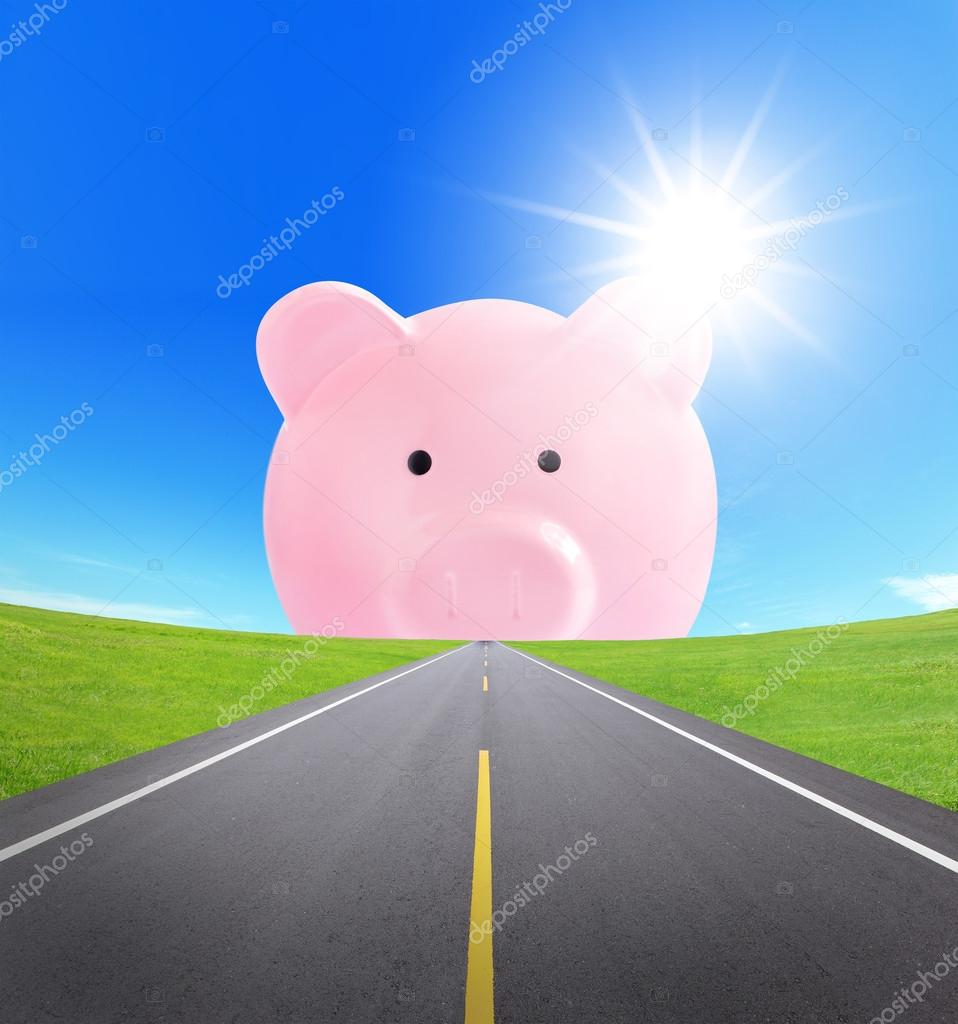 road to rich, business concept
