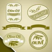 Fotografia Etichette depoca olio doliva