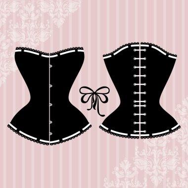Vintage corset silhouette