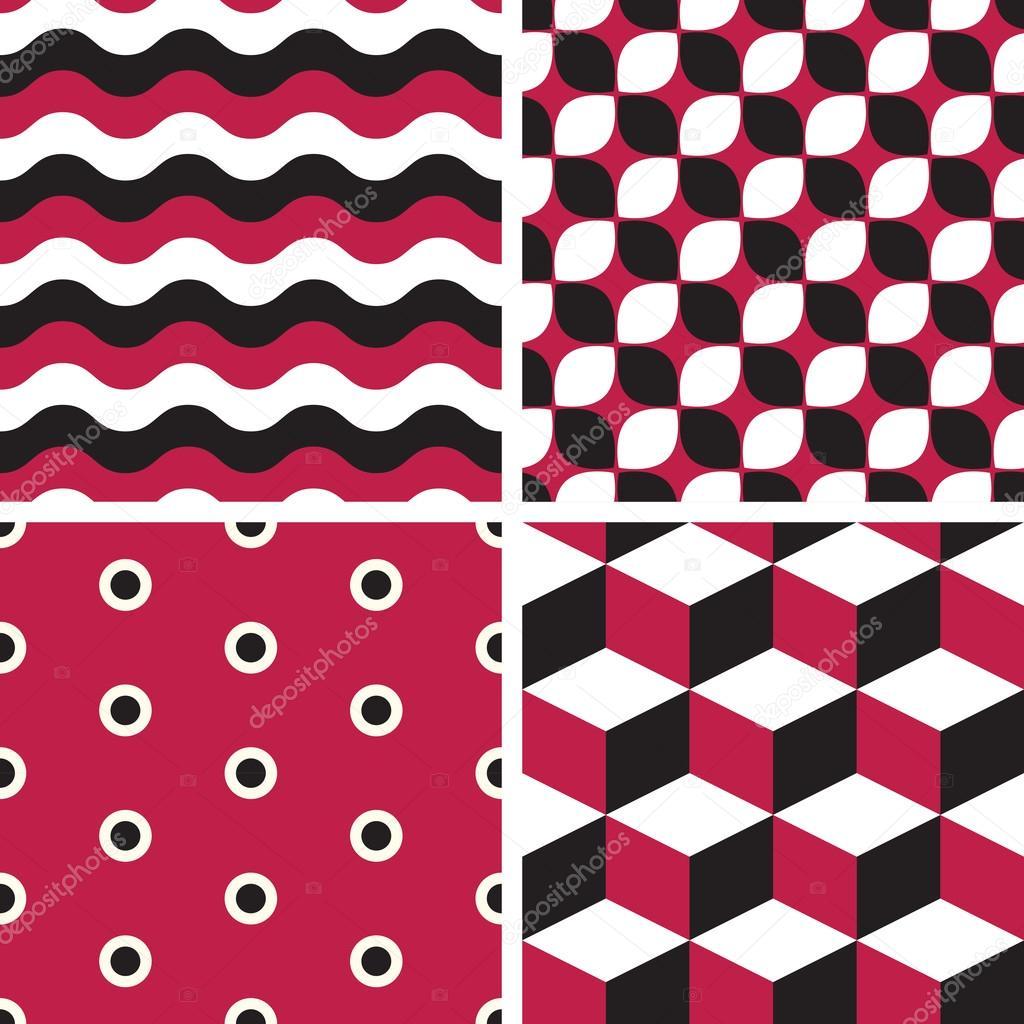 Vector seamless tiling patterns - geometric — Stock Vector © werta.w ...