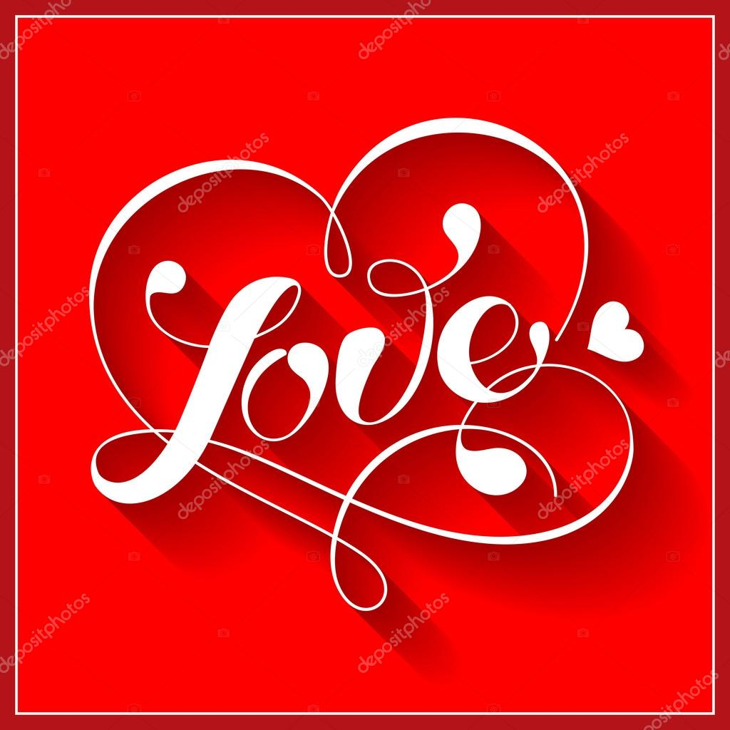 Lettering LOVE. For themes like love, valentine's day.