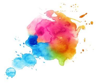 Colorful watercolor drop