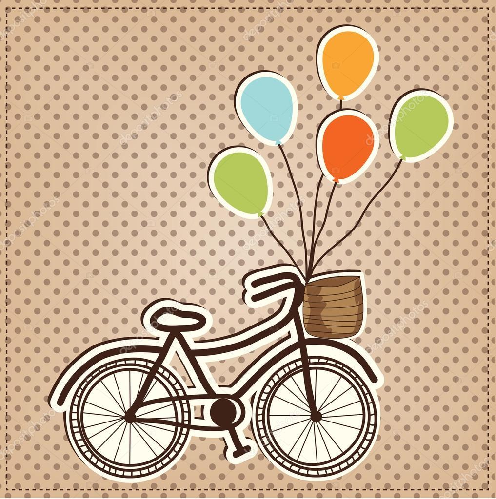 Bicicleta retro o vintage con globos archivo im genes for Imagenes retro vintage