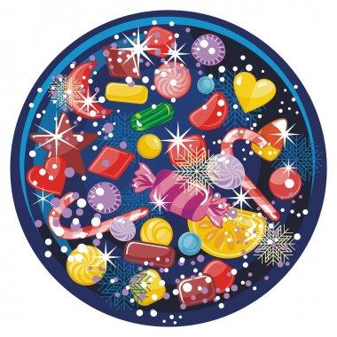 Candy Snow Globe