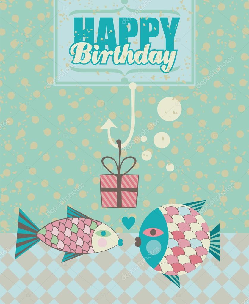 Днем рождения, картинки с днем рождения рыбки