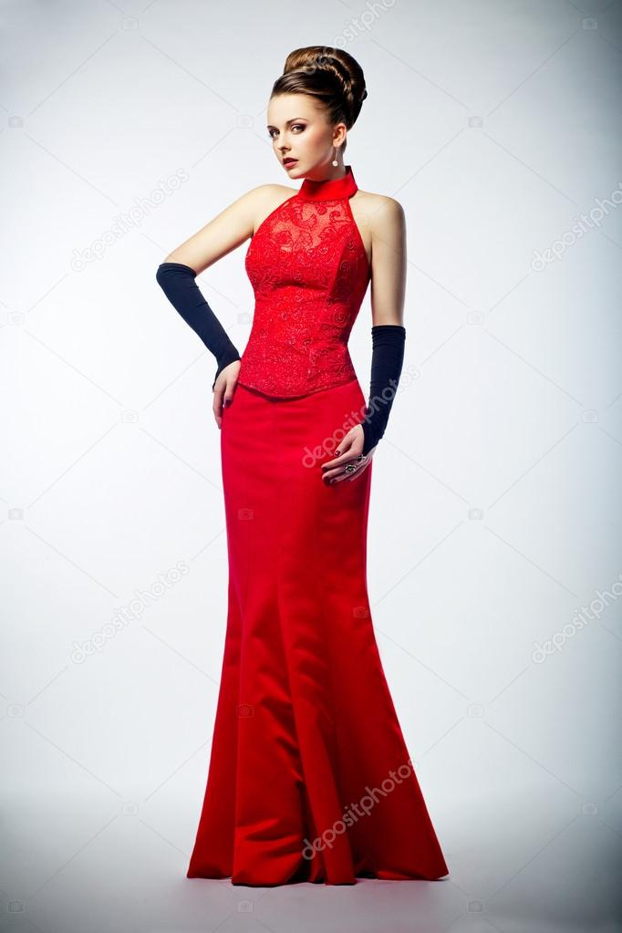 Rode jurken lang