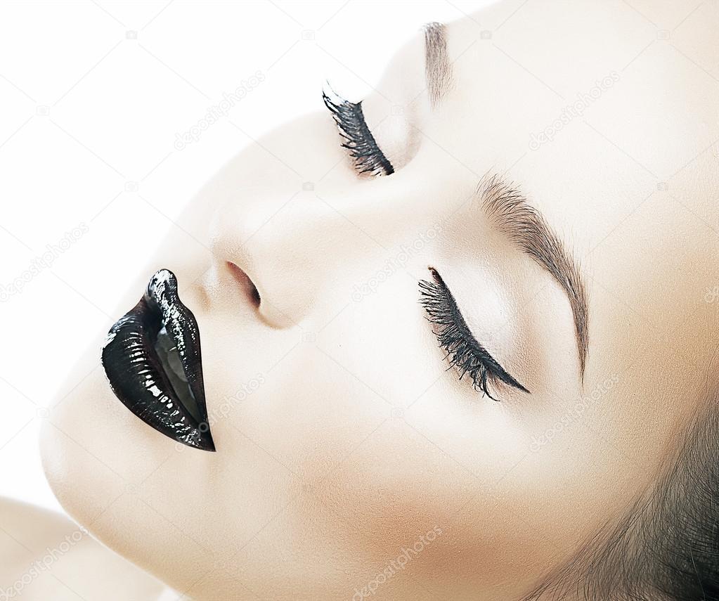Beauty fashion model - clear healthy skin, fresh ideal face