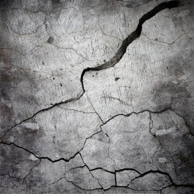cracked cement