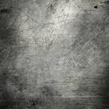 Scratched grunge metal plate industrial abstract background stock vector