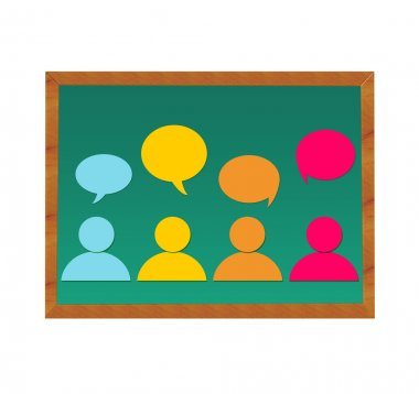People and dialogues in blackboard