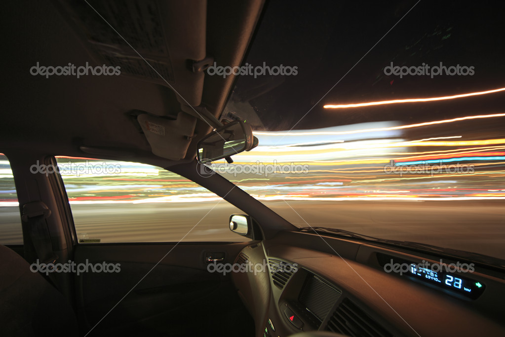 Drive in the night city — Stock Photo © lifethree3 #14375343